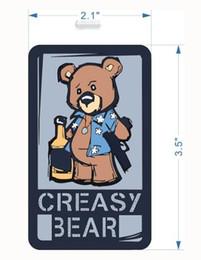 5pcs Embroidery Crazy Bear Brassard Cloth Tactical Patch Hook Morale Armband Army Emblem Combat Badge