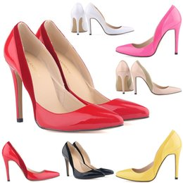 Chaussure Femme Womens Sexy Pointed Toe Patent Pu Leather High Heels Corset Style Work Pumps Court Shoes US 4-11 D0064