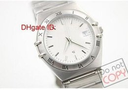 Wholesale 2016 Luxury Brand Hot Silver Arab Number Dial Sliver Bezel Sliver Band Watch Date Watch mens Sports Wrist Watches
