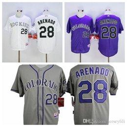 #28 Nolan Arenado Colorado Rockies Jerseys Nolan Arenado Jerseys White Purple Grey size extra small XS s - 4xl cheap cheap cheap