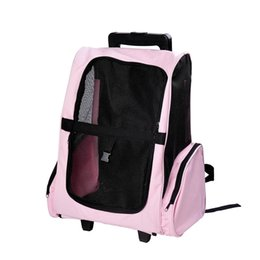 Wholesale Travel Pet Carrier OxFord Dog Puppy Trolley Luggage Bag Rolling Back Pack