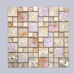 Wholesale Glass mirror mosaic gold TV background wall KTV hotel decoration ceramic tile manufacturers D