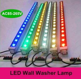 Wholesale Outdoor lighting led flood light W W LED wall washer light lamp staining light bar light AC85 V RGB for many colors