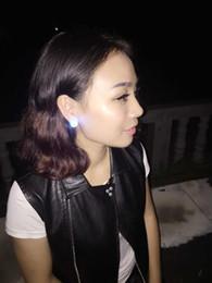 WOXIU Led Fashion Women's jewelry blinking bulb ear hook folder Lights Strobe dangle Nightclub party items light up Fashion