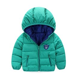 Retail 2016 New Free shipping High Quality Retail Children's Winter Down Jackets Baby Down Coat Boys Outerwear Thickening