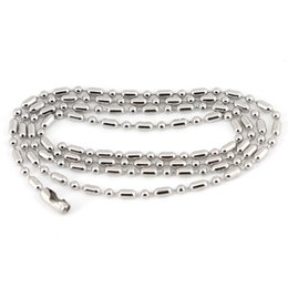 """10pcs Silver Tone Stainless Steel Dog Tag Chains,2.3mm Ball Bead Chain Ball Chains for Necklaces Keychains 20"""" 50cm Wholesale WS-271"""