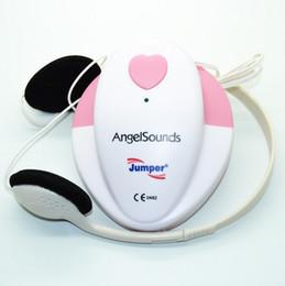 Wholesale Angelsounds JPD S Fetal Doppler Pocket Ultrasound Prenatal Monitor Portable Baby Heart Rate Fetal Detector