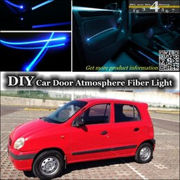 Wholesale Tuning Atmosphere Fiber Optic Band Lights DIY interior Ambient Light For Dodge Atos Door Panel illumination Refit