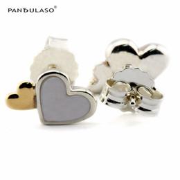 Luminous Hearts Stud Earrings With 14K Gold European Style Earrings Studs Fashion Jewelry wholesale Free Shipping Flower Earrings
