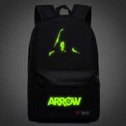 Free Shipping New Fashion Noctilucent Green Arrow Canvas Backpack High Quality Casual School Bags For Teenagers Daily Backpack Travel Bag