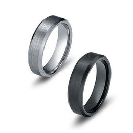 Wholesale Tungsten Carbide Wedding Band Ring For Men Women mm Satin Finish Beveled Edge US Leave Message About Size Color