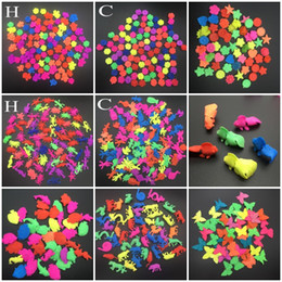 Wholesale 50g set EVA Grow Up Toy Small Size Colorful Sea Animal Goldfish Rose Butterfly Shape Kids Favor Toy Aquarium Home Decoration
