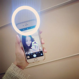 Wholesale Cuty Selfie Light Universal Portable Highlight LED Flash Light for iPhone S Plus S Samsung Galaxy S6 Edge S5 Note Blackberry Motorol