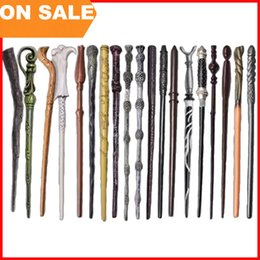 Wholesale 18 models Harry Potter Wand Hermione Voldemort Dumbledore Magic Magical Wand Cosplay staves Wands for men women With gift box
