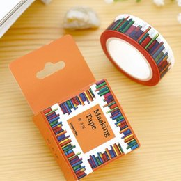 10M  The Library series paper Masking Tape set zakka Students' DIY adhesive tape tools Stationery Wholesale