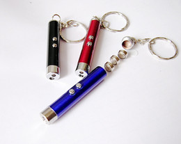 Free DHL Mini Flashlight 2 in1 LED Flashlight Red LED Laser Pen Pointer Flash Light Torch Flashlight Emergency Keychain Flashlight