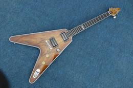 Voler v en Ligne-New Arrival Custom Shop Flying V guitare électrique gueule de cou rapproché céréales