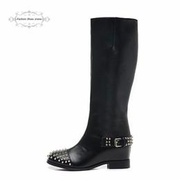 Taille 35-41 6cm Escarpins noir en cuir véritable des femmes avec des pointes d'argent Bottom Red Martin Bottes, Chaussures Femmes Mode New Wedges hiver à partir de rouge à pointes hauts talons fabricateur