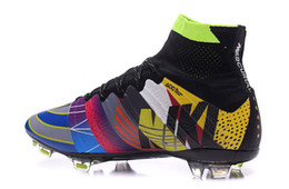 Wholesale Men s Mercurial Superfly FG Soccer Shoes Boots High Top CR7 Cleats Laser Football Sneakers Eur Size