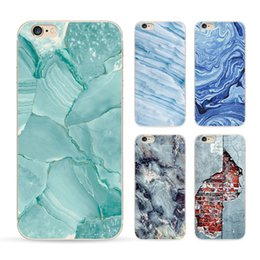 Wholesale 2016 Fashion Marble Stone Image Painted Phone TPU Soft Back Cover Case for Iphone s s plus