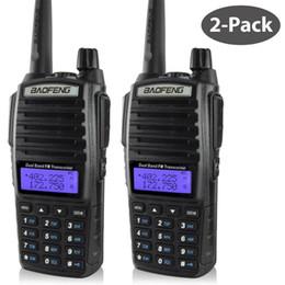 Promotion deux radios bidirectionnelles vente Gros-BaoFeng UV-82 Walkie Talkie Amateur Radio Dual Band Deux radios Hot Way Vente Modèle Pofung uv 82 Ham Radio avec casque double PTT