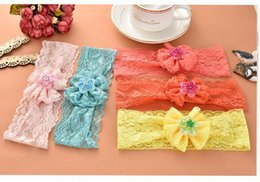 Wholesale Baby Girls Lace Bow Headbands Kids Hair Accessories Ebay Amazon Hot Sale Infant Lace Headbands
