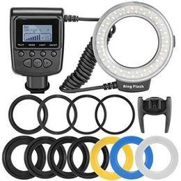 Wholesale New Travor Macro LED Ring Flash Adapter RF D Nikon Canon Olympus DSLR Camera