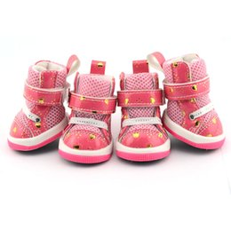 Love sandwich mesh cloth sports dog shoes wholesale non slip waterproof spot sales Pink free shipping