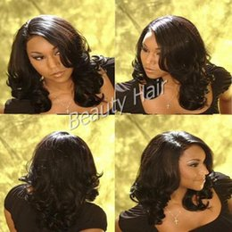 Best selling medium length wavy silk base full lace human hair wigs lace front wig with baby hair