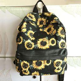 2016 Fashion Women Backpacks Canvas Flower Prinitng School Bags For Teenagers Girls Laptop Backpacks Rucksack Mochila Feminina