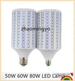 Descuento luces de techo led brillantes Lámpara brillante estupenda 50W 60W 80W LED E27 E40 E26 B22 110V / 220V Lampada maíz Bombillas Iluminación pendiente de la lámpara de la luz de techo del punto
