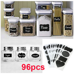 Wholesale Chalkboard Blackboard Chalk Labels Stickers Craft Kitchen Candy Buffet New Rectangles Lacy Frame Oval heart