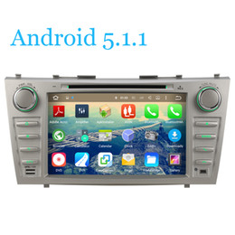 Wholesale Camry Dash - Quad-Core Car DVD Player Radio Tape Android 5.1.1 GPS Navi For Toyota Aurion Camry 2007 2008 2009 2010 2011 3G WiFi