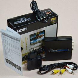 S audio vidéo hdmi en Ligne-Gros-HDMI Composite 3RCA AV S-Vidéo R / L Audio vdieo adaptateur convertisseur de soutien 720P / 1080P avec RCA / S-vidéo