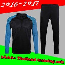 Wholesale A quality sweatshirt Barcelona football training uniforms long sleeved football soccer sportswear suit