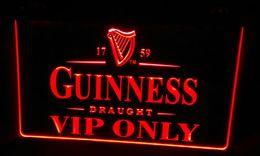 LS472-r Guinness VIP Only Bar Neon Light Sign