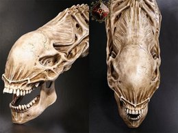 Wholesale Halloween Details about inch AVP Predator VS Alien Skull Prop Replica Simulation Model for Collection Movie Model