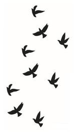 Transfert d'eau autocollants de tatouage en Ligne-Gros-2016 Nouveaux oiseaux d'eau de transfert étanche tatouage temporaire autocollant Body Art Tattoo Livraison gratuite Produit