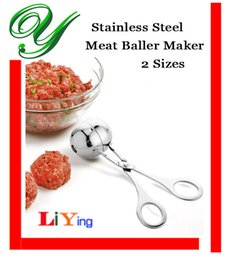 Wholesale Stainless Steel Meat Baller Mold cake pops potato icecream scoop kitchen bath bombs patty bento rice ball maker kitchen meat tools mould
