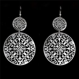 Wholesale Elegant Gold Silver Plated Dangle Earring boucle d oreille femme pendante Vintage Drop Earrings for Women Girls