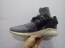 AQ3913 Mens sock sneaker basketball shoes KITH x Consortium Tubular Doom outdoor sports shoes black grey size 40--45