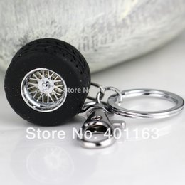 Wholesale nterior Accessories Key Rings Creative Auto Part Model Thicker Wheel Tyre Tire Keychain Fashion Automotive Accessories Key Chain Ring Key