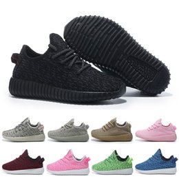 Wholesale kids Boost breathable Running sneakers yezzys shoes baby Kanye West Boots Shoes booties many colors toddler Sports Training
