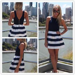 Black and white striped skirt mini dress princess dress DFML103,free shipping brand new summer dresses for women
