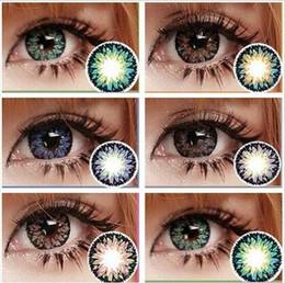 Wholesale 2016 New Milk Shake Big beautiful eyes contact lenses yearly use
