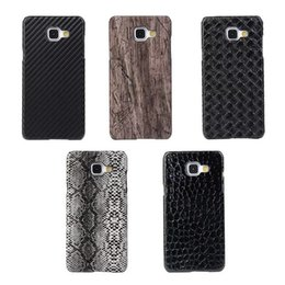 Wholesale For LG K5 K8 Galaxy J510 J710 J120 J310 A710 Note Croco Veneer Gluing Wood Snake Leather Hard PC Case Fiber For Moto G4 Plus Carbon