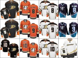 Wholesale Men s Anaheim Ducks Teemu Selanne Paul Kariya Corey Perry Authentic White Away HOCKEY Jersey Stiched