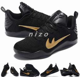Promotion chaussures de sport pas cher 2016 Kobe 11 Mamba Day Elite Knit Chaussures de basket Sneakers pas cher Kobe XI Low Cut Sport Shoes Taille 40-46