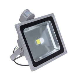IP65 LED PIR Sensor Floodlight 10W 20W 30W 50W Warm White Cold White Lamp For Outdoor Lighting Aluminum Silver