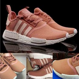 Wholesale 2016 new NMD R1 Primeknit PK W S76006 Raw Pink Rose Salmon Peach Women Shoes Sports Kids Running Shoes